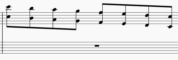 オクターブの練習法-右手下降