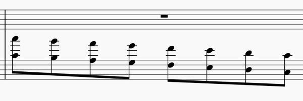 オクターブの練習法-左手下降