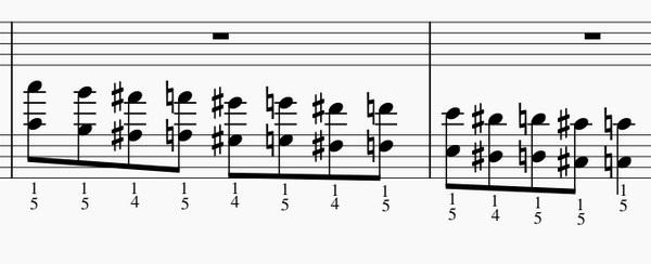 半音階オクターブの練習法-左手下降